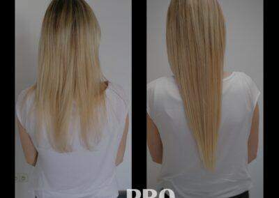 Przedłużanie włosów metoda kanapkowa