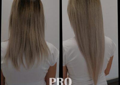 Przedłużanie włosów metodą na plasterki